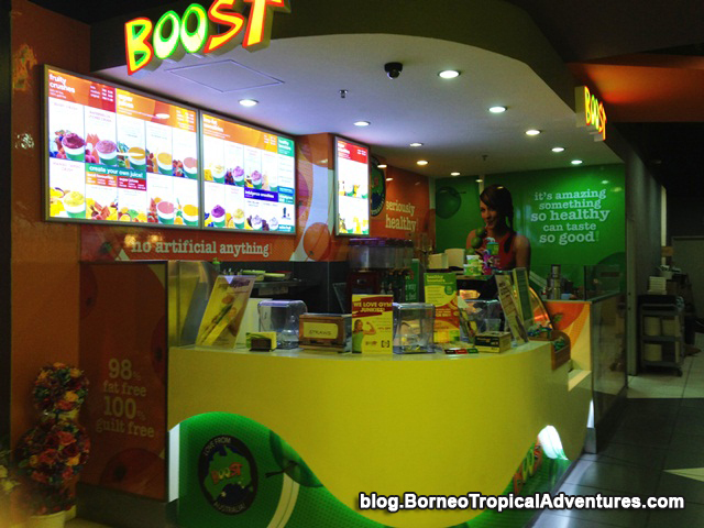 BOOST stall selling crushed ice and smoothies